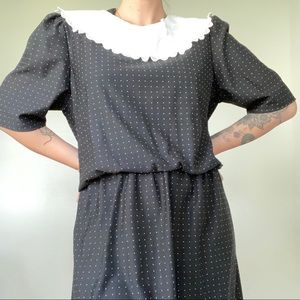 Vintage Lace and Polka Dot Dress by Glamax
